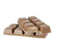 bited choklad Fotografering för Bildbyråer