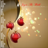 Bited Christmas balls. Bited Christmas balls with elegance style background. Vector Illustration, EPS 10 Stock Photo