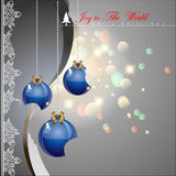 Bited Christmas balls. Bited Christmas balls with elegance style background. Vector Illustration, EPS 10 Stock Photography