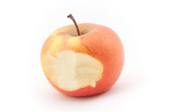 Biten apple Stock Photo