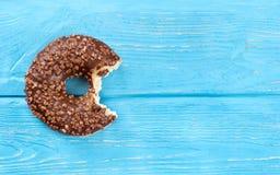 biten chokladmunk royaltyfri bild