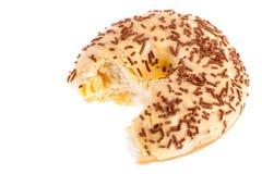 Biten donut Stock Images
