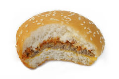biten hamburgare Royaltyfri Bild