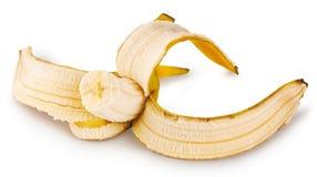 Biten mogen banan royaltyfri fotografi