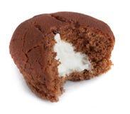 biten muffinwhite arkivbilder