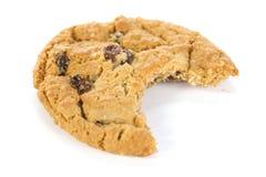 Biten Oatmeal Raisin Cookie Stock Image