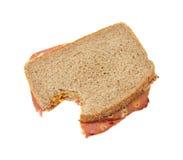 biten ost släntrar macaronismörgåsen royaltyfria bilder