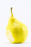 Biten pear Royaltyfri Fotografi