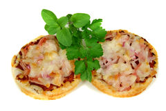 bites1 πίτσα ζαμπόν τυριών στοκ εικόνα με δικαίωμα ελεύθερης χρήσης
