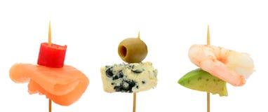 Bitesize party snacks Stock Images