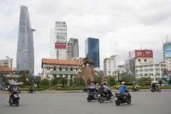Bitexco Financial Tower and modern buildings, Saigon Stock Images