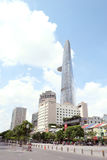 Bitexco, walking street view. Bitexco tower and other towers/buildings view from walking street Stock Photography