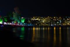 Bitez beach at night Royalty Free Stock Photos