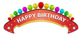 Bithday banner Royalty Free Stock Photography