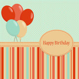 Bithday Template greeting card Stock Image