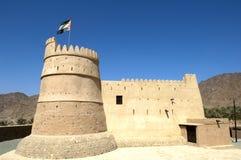 Bithnah堡垒在富查伊拉阿拉伯联合酋长国 免版税库存照片