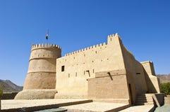 Bithnah堡垒在富查伊拉阿拉伯联合酋长国 免版税库存图片