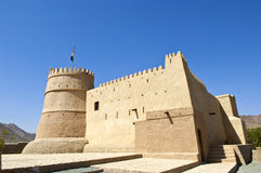 Bithnah Fort i Fujairah United Arab Emirates Royaltyfria Bilder
