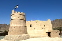 Bithnah Fort i Fujairah United Arab Emirates Royaltyfri Foto