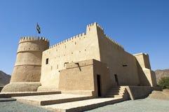Bithnah Fort i Fujairah United Arab Emirates Arkivfoton