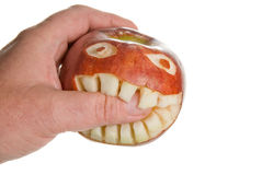 Biting Apple stock image