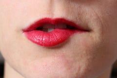 Biting lips Royalty Free Stock Photo
