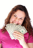 Biting money Stock Photography