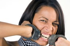 Biting your way to freedom Stock Photography