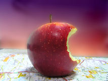 bitit äpple royaltyfri fotografi