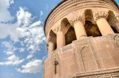 Bitlis, Turkey - September 28, 2013: Emir Bayindir Kumbet tomb is a mediaval Seljuk mausolem. Emir Bayindir Kumbet tomb is a mediaval Seljuk mausolem stock images