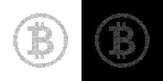 Binary Code Bitcoin Logo stock illustration