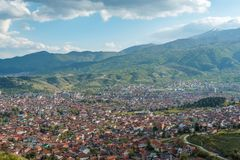 Bitola city -skyline stock photos