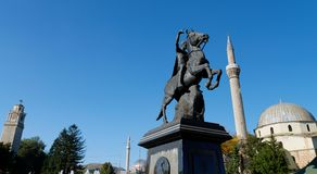 BITOLA, MACEDONIA,. The monument of King Filip II in Bitola, Macedonia royalty free stock photography