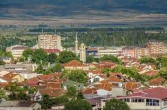Bitola Makedonien - panorama Arkivfoton