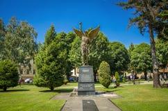 ` Bitola, Republiken Makedonien för monument`-ängel Arkivfoton