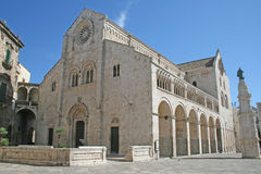The bitonto cathedral. The romanesque old cathedral of bitontoin italy Stock Photos