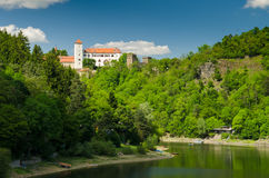 Bitov castle over the Vranov Dam Royalty Free Stock Photo
