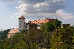 Bitov Middeleeuws kasteel in Moravië Royalty-vrije Stock Fotografie