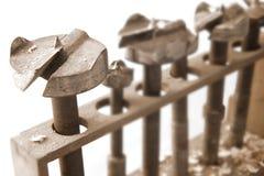 Bits de foret en bois Photographie stock libre de droits