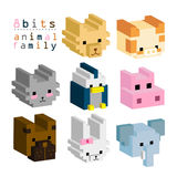 8BITs dierlijke familie 01 royalty-vrije illustratie