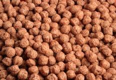Bits do cereal do ofchocolate do Close-up foto de stock