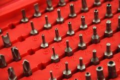 Bits für Schraubendreher stockfoto