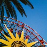Bits of the happiest place on earth. Disneyland, Ca Palm tree Royalty Free Stock Photography