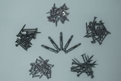 Bits for screwdriver and cogs. royalty free stock photography