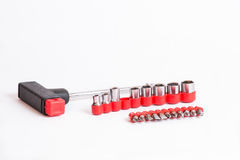 Bits with screwdriver Stock Image
