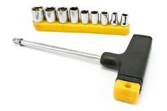 Bits torx T-shaped da chave de fenda e do jogo da chave fotografia de stock