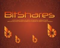 BitShares-blockchain Hintergrund-Artsammlung Lizenzfreies Stockfoto