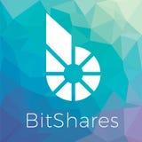 Bitshares BTS blockchain criptocurrency商标 免版税库存照片