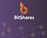 BitShares cryptocurrency technology style background. Vector illustration Stock Photography