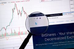 Bitshares home page royalty free stock image